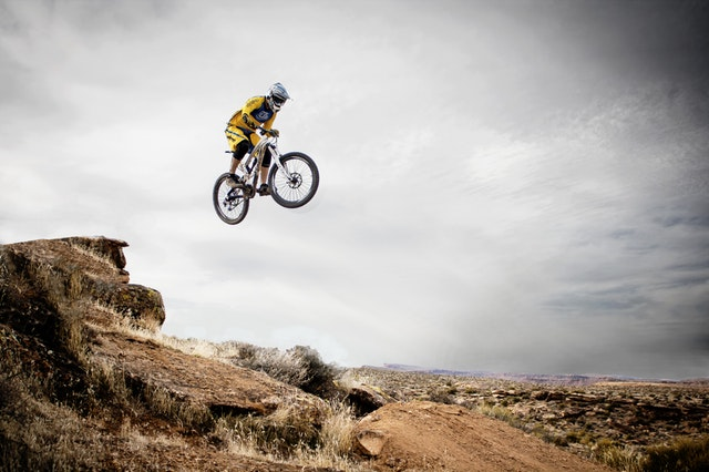 jump, jumping, dirt bike