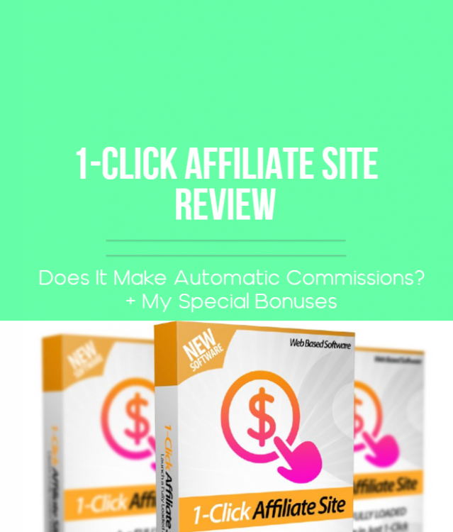 1-click affiliate site review featured image, blog post image