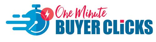one minute buyer clicks logo
