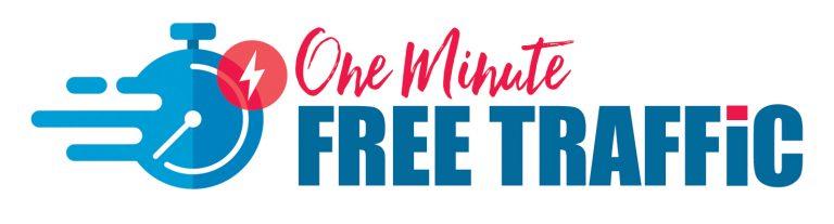 one minute free traffic logo