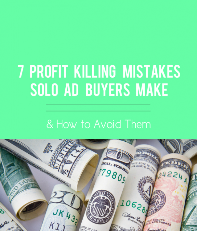 solo ad mistakes blog post, featured image