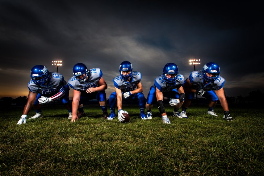 football team, users, referrals, network