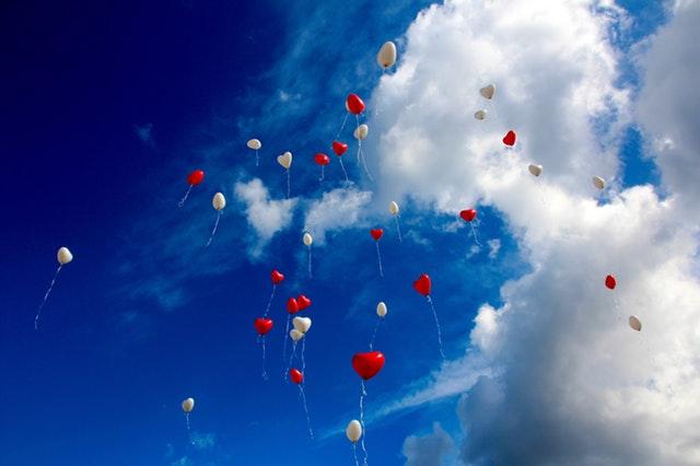 balloons, love