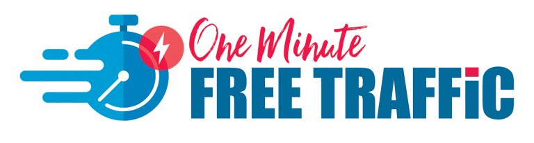 one minute free traffic logo