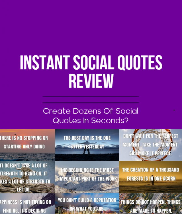 instant social quotes blog post, featured image