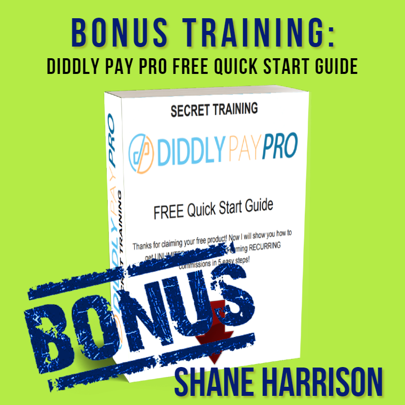 diddly pay pro free quickstart guide by shane harrison