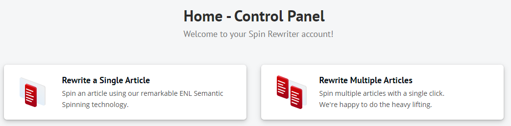 spin rewriter content spinner dashboard spin article